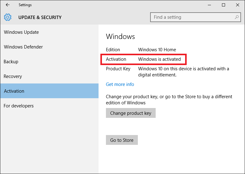 Activate windows10 windows 10 forums just beneath you see also the product key is a digital entitlement too ccuart Gallery