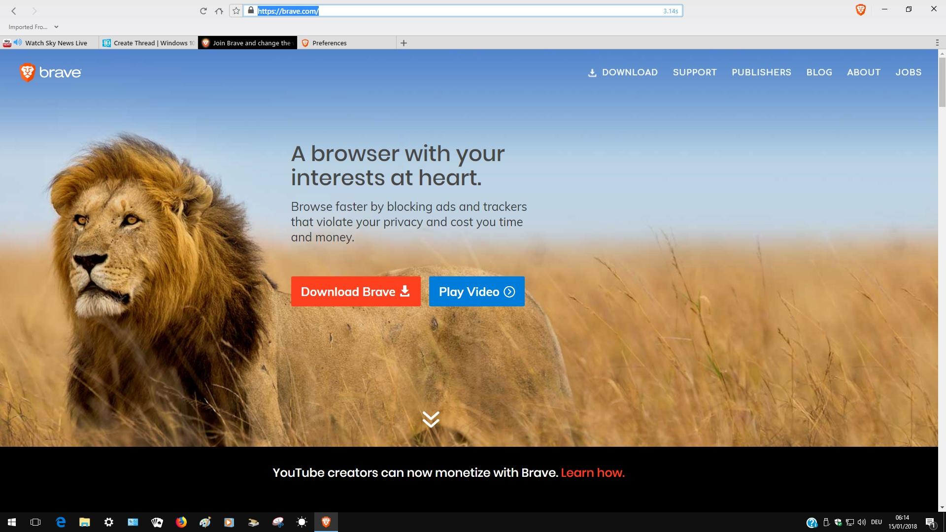 Brave Web browser | Windows 10 Forums