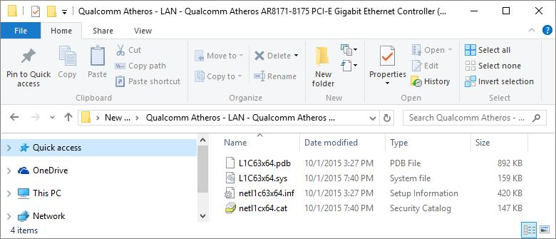 qualcomm atheros ar8171 drivers windows 10