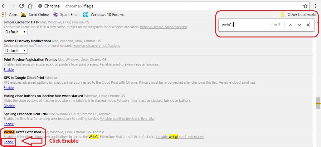 webGL nuisance   Windows 10 Forums