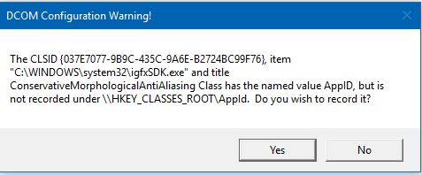 DCOM warning, what would you do? | Windows 10 Forums