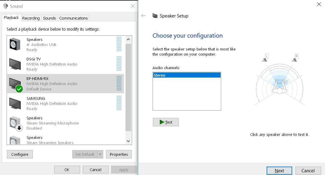 PC to AVR via HDMI 5 1 audio | Windows 10 Forums