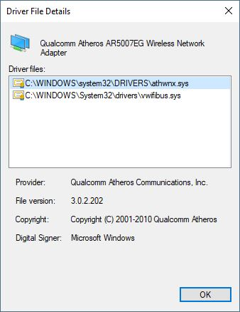 qualcomm atheros ar5007eg wireless network adapter download windows 7