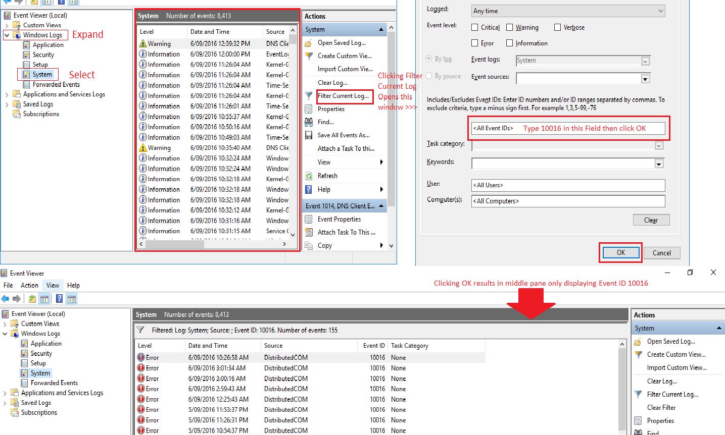 Event Id 10016 Crash Windows 10