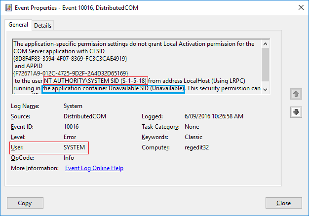Event ID 10016 - DistributedCOM | Page 2 | Windows 10 Forums