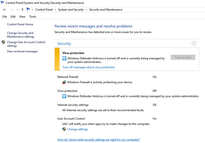 How to Disable Windows Defender and/or the Windows Defender