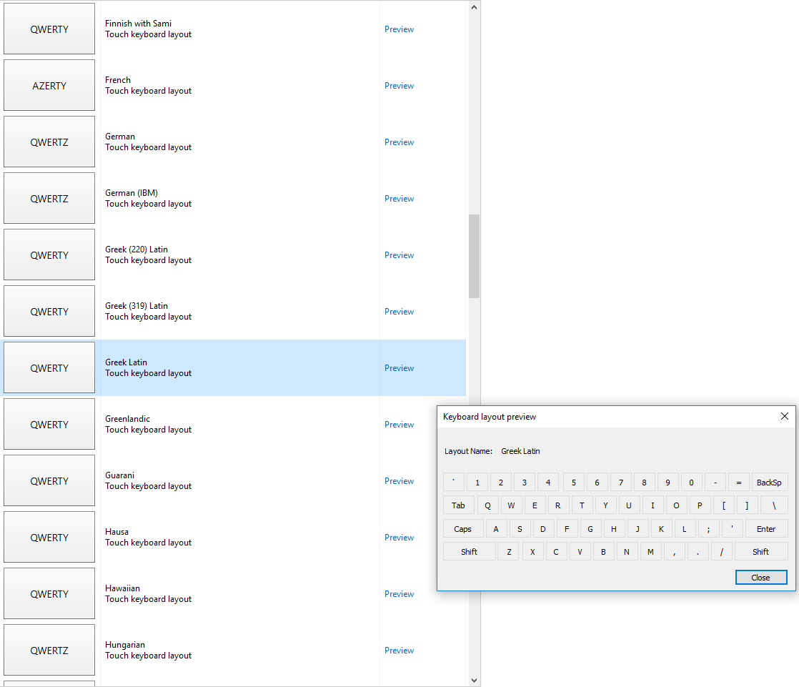 Non-latin character Keyboard Layouts have disapeared