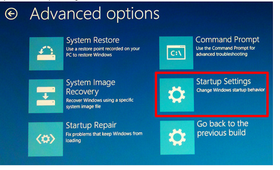 system recovery options command prompt missing