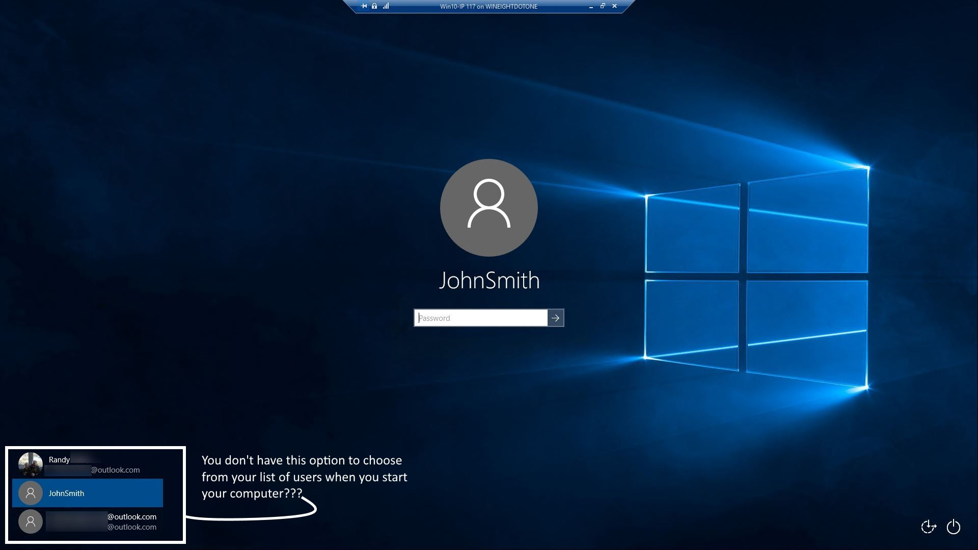 Users to choose from from login windows 10 forums for How to choose windows