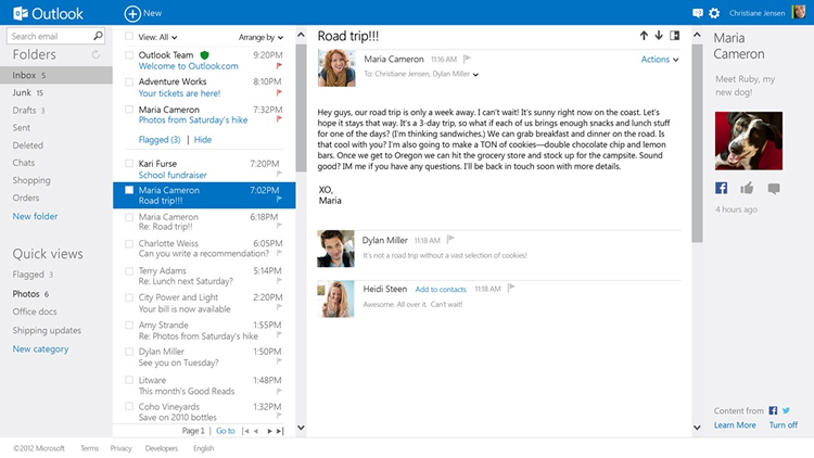 Outlook vs Outlook com vs Windows Live Mail vs Mail