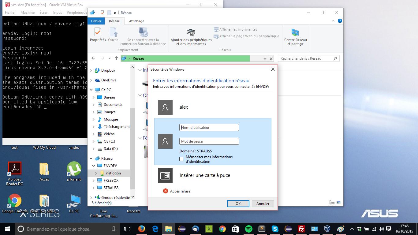 windows10 ask login and pass for my samba share | Windows 10