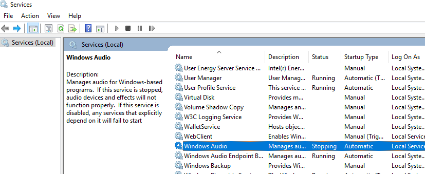Windows Audio Service Not Restarting | Windows 10 Forums