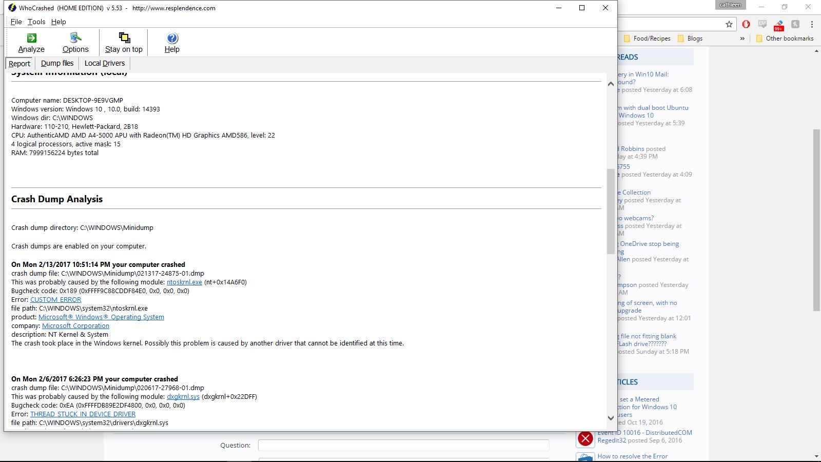 Random BSOD  Not sure where to start | Windows 10 Forums