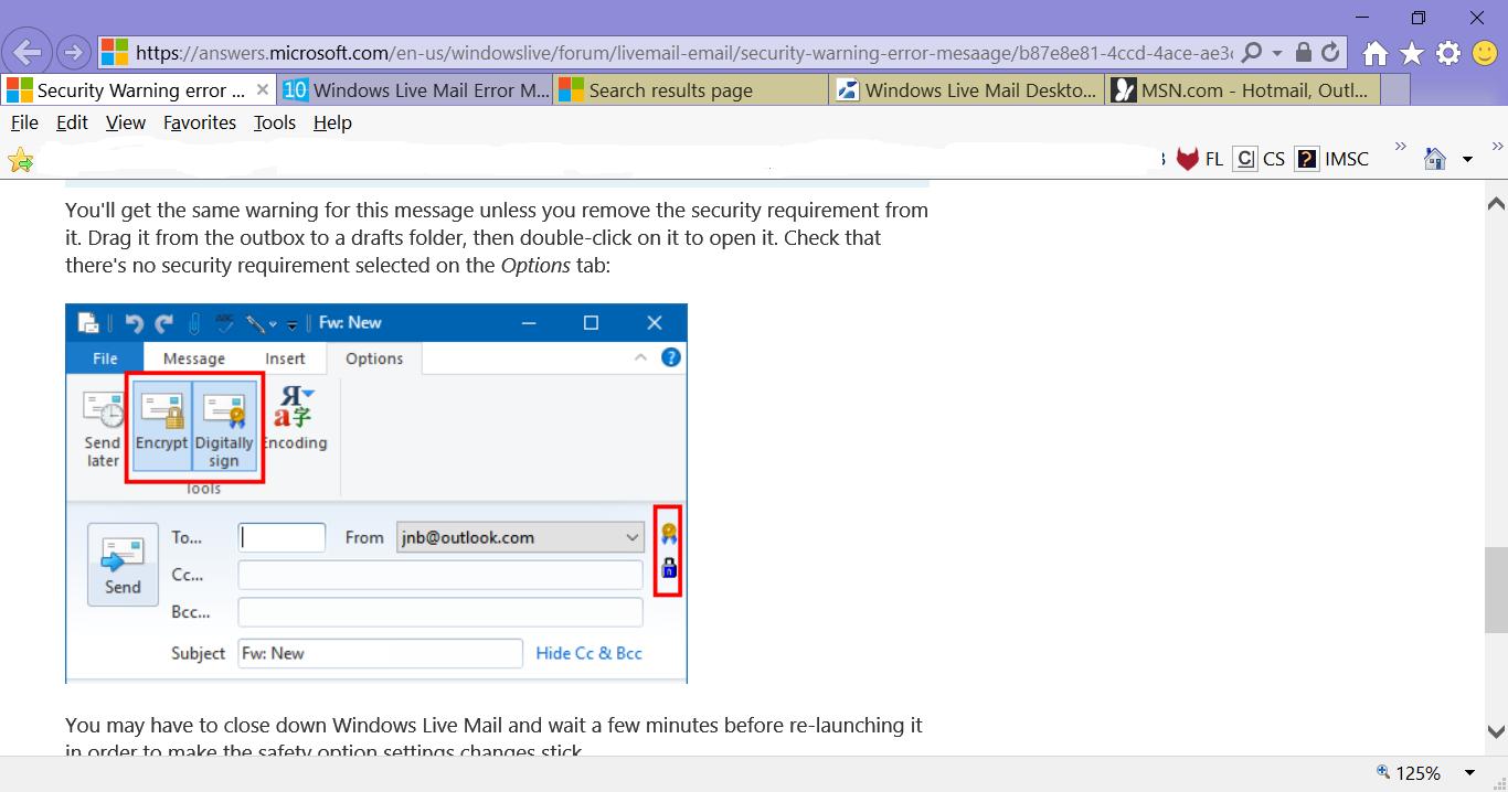 Windows Live Mail Error Message      | Windows 10 Forums
