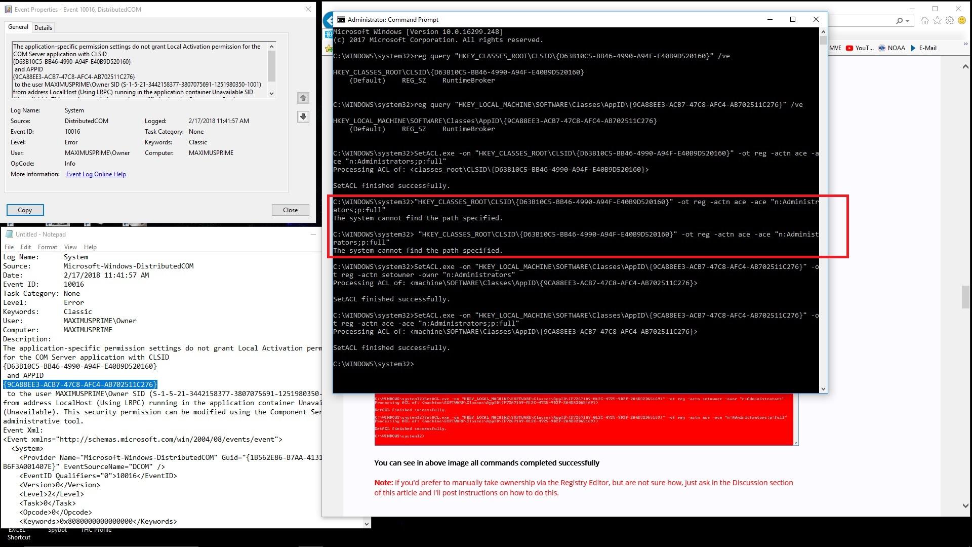windows runtime broker dcom