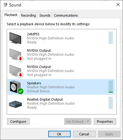 PC to AVR via HDMI 5 1 audio | Windows 10 Forums