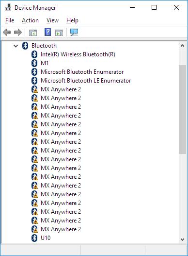 logitech wireless mouse problems windows 10