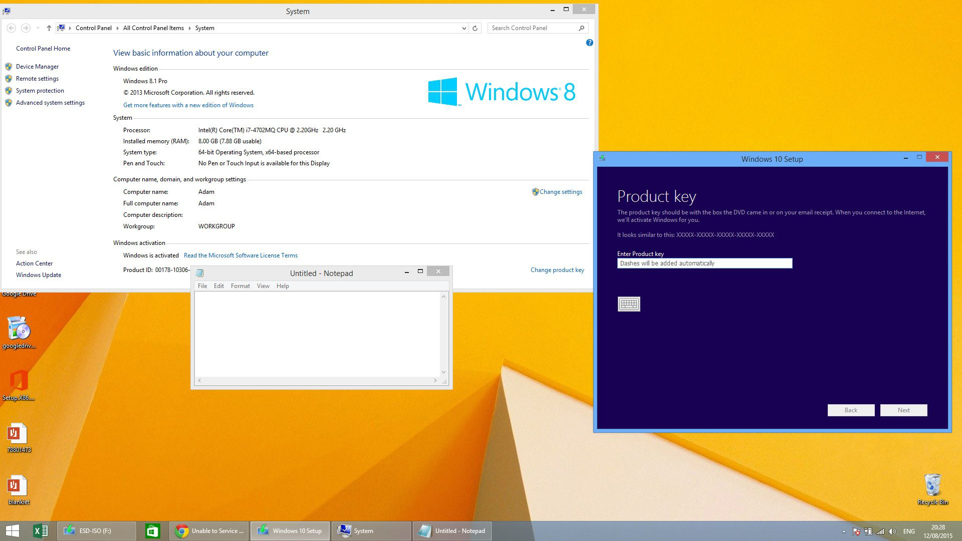 windows 10 2015 product key
