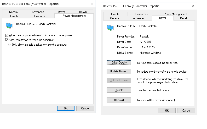 realtek pcie gbe family controller drivers